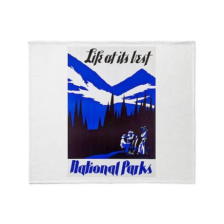 National Parks Travel Poster 4 Throw Blanket