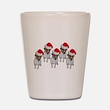 belle-santa-yardsign.png Shot Glass