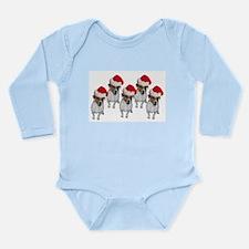 belle-santa-yardsign.png Long Sleeve Infant Bodysu