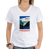 Canadian rockies Womens V-Neck T-shirts