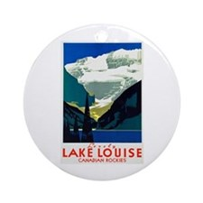 Canada Travel Poster 6 Ornament (Round)