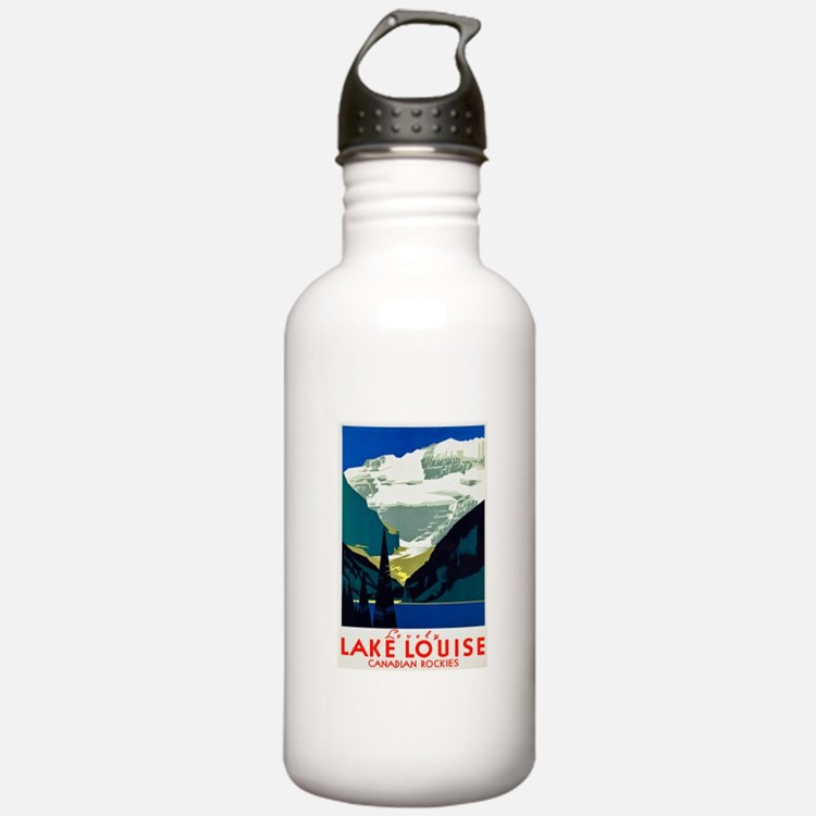 Canada Travel Poster 6 Water Bottle