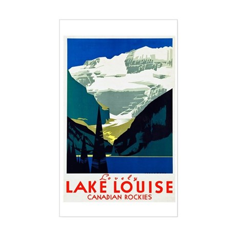 Canada Travel Poster 6 Sticker (Rectangle)