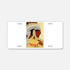 Old West Travel Poster 3 Aluminum License Plate