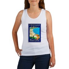 Chicago Travel Poster 1 Women's Tank Top