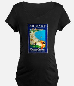 Chicago Travel Poster 1 T-Shirt