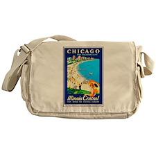 Chicago Travel Poster 1 Messenger Bag