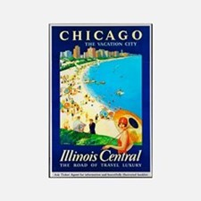 Chicago Travel Poster 1 Rectangle Magnet