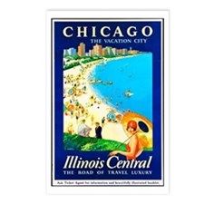 Chicago Travel Poster 1 Postcards (Package of 8)