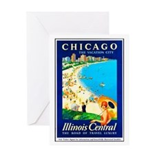 Chicago Travel Poster 1 Greeting Card