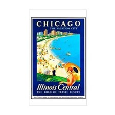 Chicago Travel Poster 1 Decal