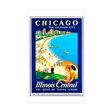 Chicago Travel Poster 1 Sticker (Rectangle)