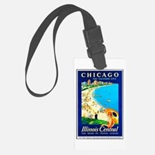 Chicago Travel Poster 1 Luggage Tag