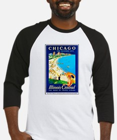 Chicago Travel Poster 1 Baseball Jersey