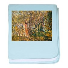 Hassam - Nude in Sunlit Wood. baby blanket