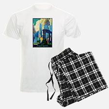 Chicago Travel Poster 3 Pajamas