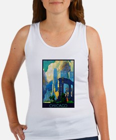 Chicago Travel Poster 3 Women's Tank Top