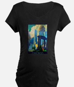 Chicago Travel Poster 3 T-Shirt