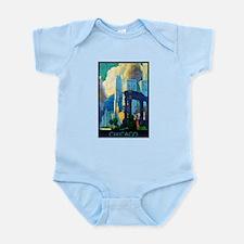 Chicago Travel Poster 3 Infant Bodysuit