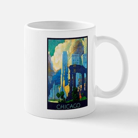 Chicago Travel Poster 3 Mug