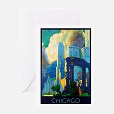 Chicago Travel Poster 3 Greeting Card