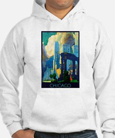 Chicago Travel Poster 3 Hoodie