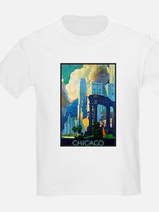 Chicago Travel Poster 3 T-Shirt