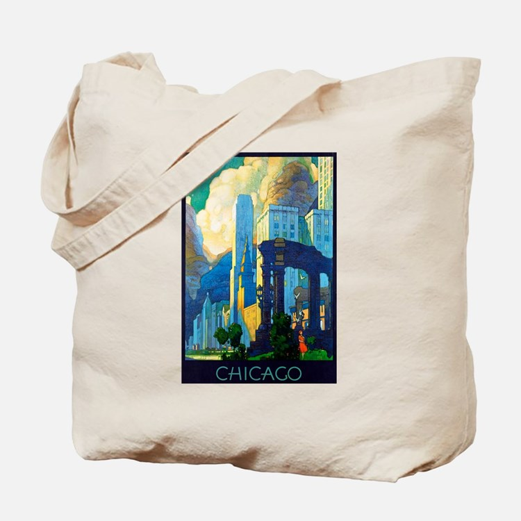 Chicago Travel Poster 3 Tote Bag