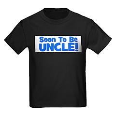 soontobeuncle_blue.png Kids Dark T-Shirt