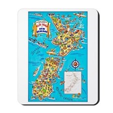 New Zealand Travel Poster 8 Mousepad