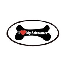 I Love My Schnauzer - Dog Bone Patches