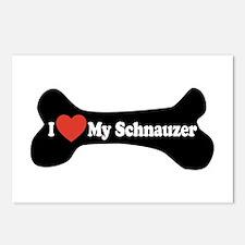 I Love My Schnauzer - Dog Bone Postcards (Package