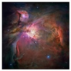 Orion nebula (M42 and M43) Framed Print
