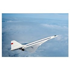 Tupolev Tu-144, first supersonic airliner Poster