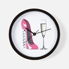 Corkscrew Pink Stiletto Shoe and Champagne Glass W