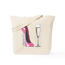 Corkscrew Pink Stiletto Shoe and Champagne Glass T