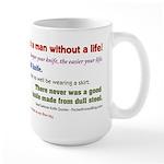 Knife Quotes, Slogans, Sayings Large Mug