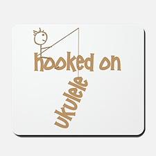 Funny Fishing Ukulele uke design Mousepad