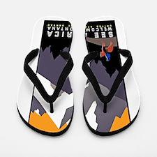 Montana Travel Poster 3 Flip Flops