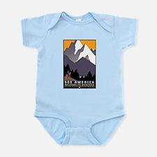 Montana Travel Poster 3 Infant Bodysuit