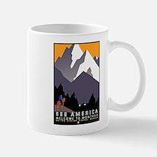 Montana Travel Poster 3 Mug