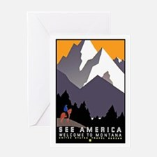 Montana Travel Poster 3 Greeting Card
