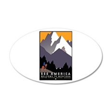 Montana Travel Poster 3 Wall Decal