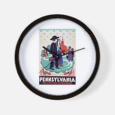 Pennsylvania Travel Poster 2 Wall Clock