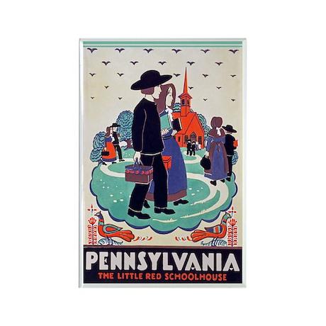 Pennsylvania Travel Poster 2 Rectangle Magnet