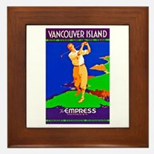 Canada Travel Poster 4 Framed Tile