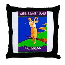 Canada Travel Poster 4 Throw Pillow