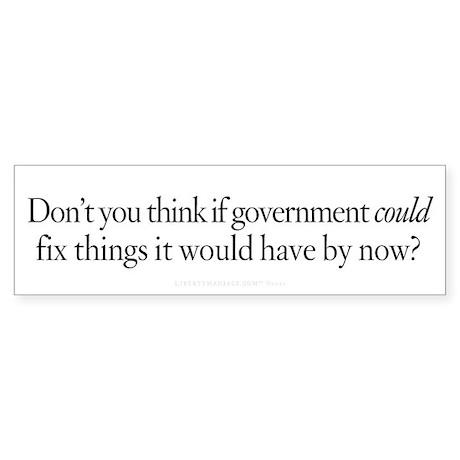 Government Fix Sticker (Bumper)