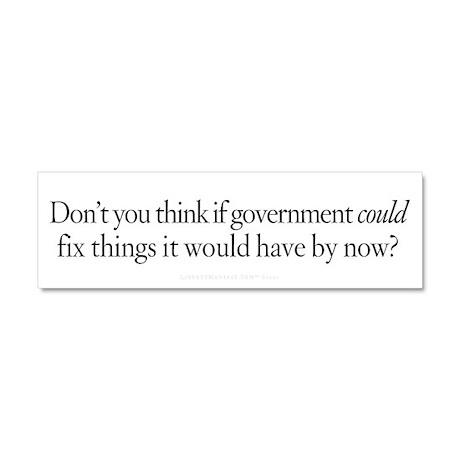 Government Fix Car Magnet 10 x 3