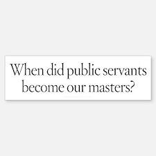 Public Masters Bumper Bumper Sticker